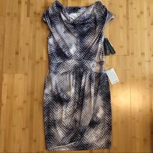 Komarov snakeskin print cling dress - NWT